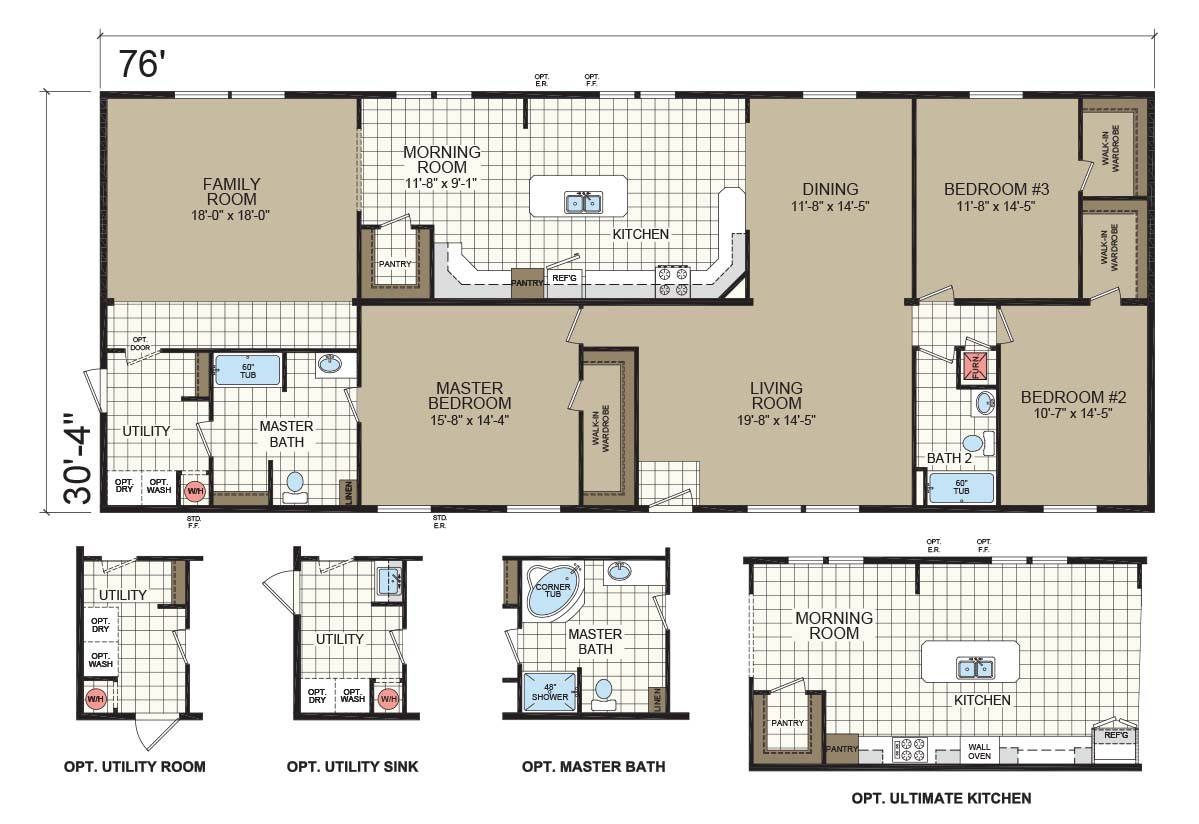 Champion Gold Star 3280 207 Floorplan
