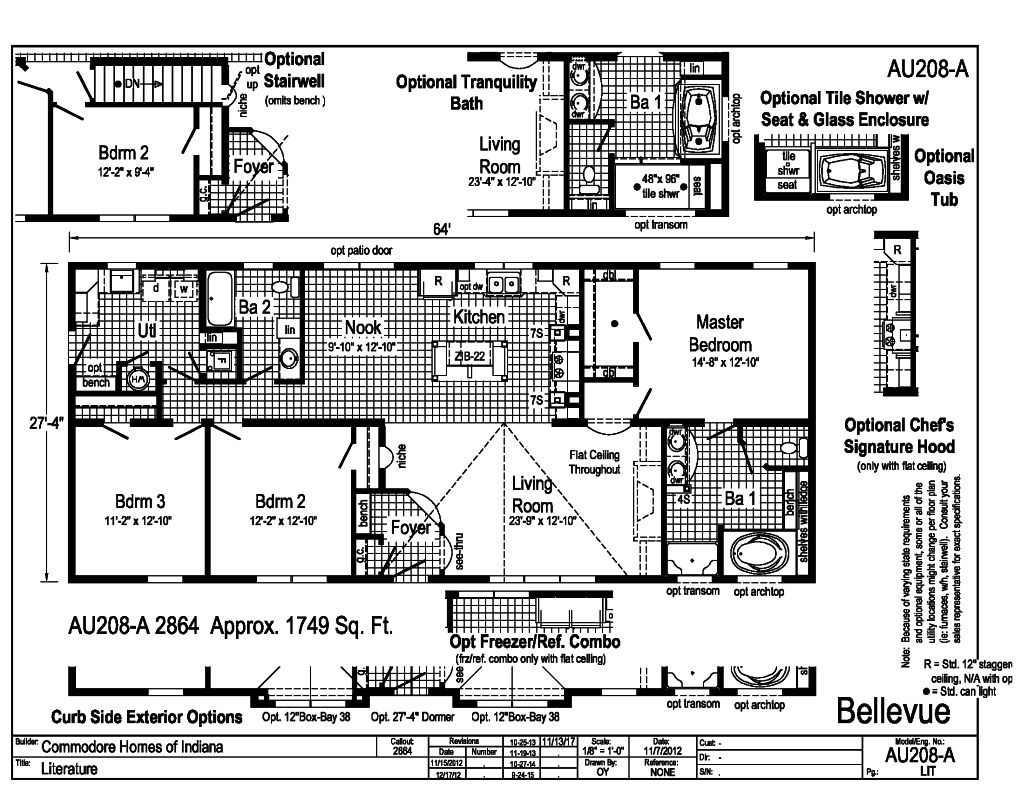 Commodore Bellevue Au208a Floor Plan 1 D W Homes