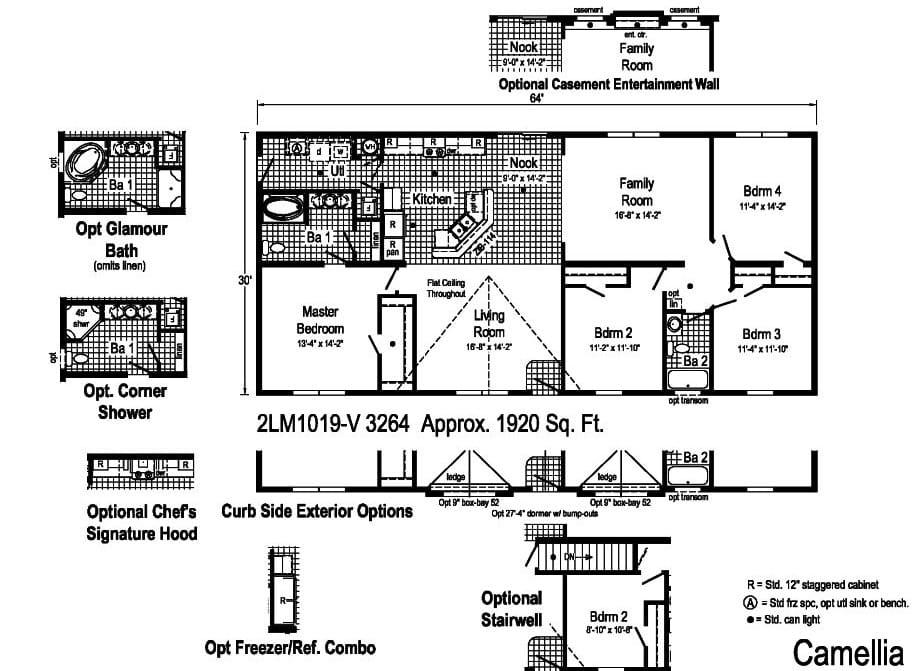 Commodore Landmark Camellia 2LM1019