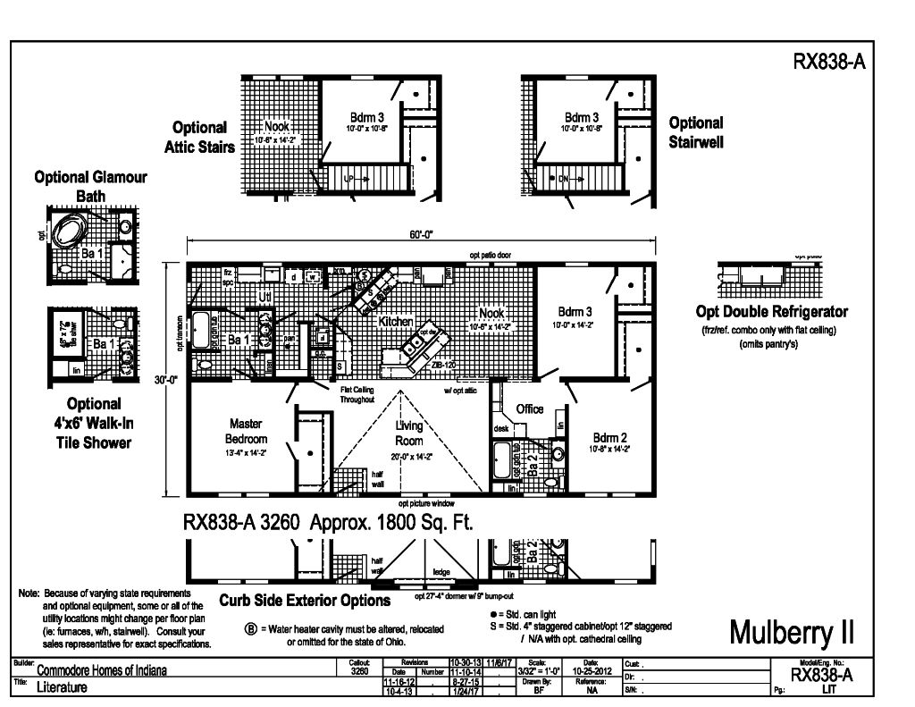 Commodore Mulberry Ii Rx838a Floorplan D W Homes