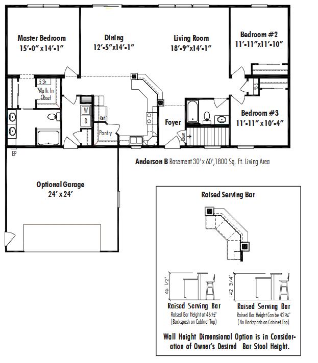 Unibilt Anderson B Floorplan D W Homes