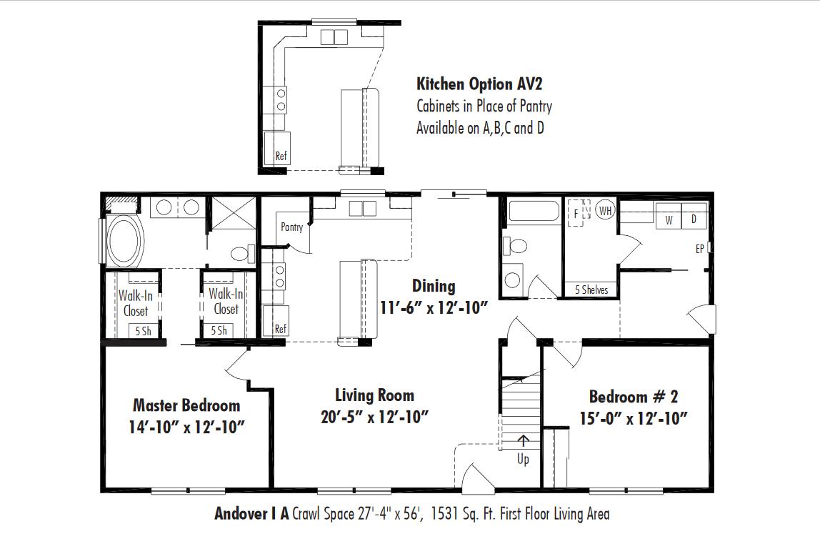Unibilt Andover I A Floorplan