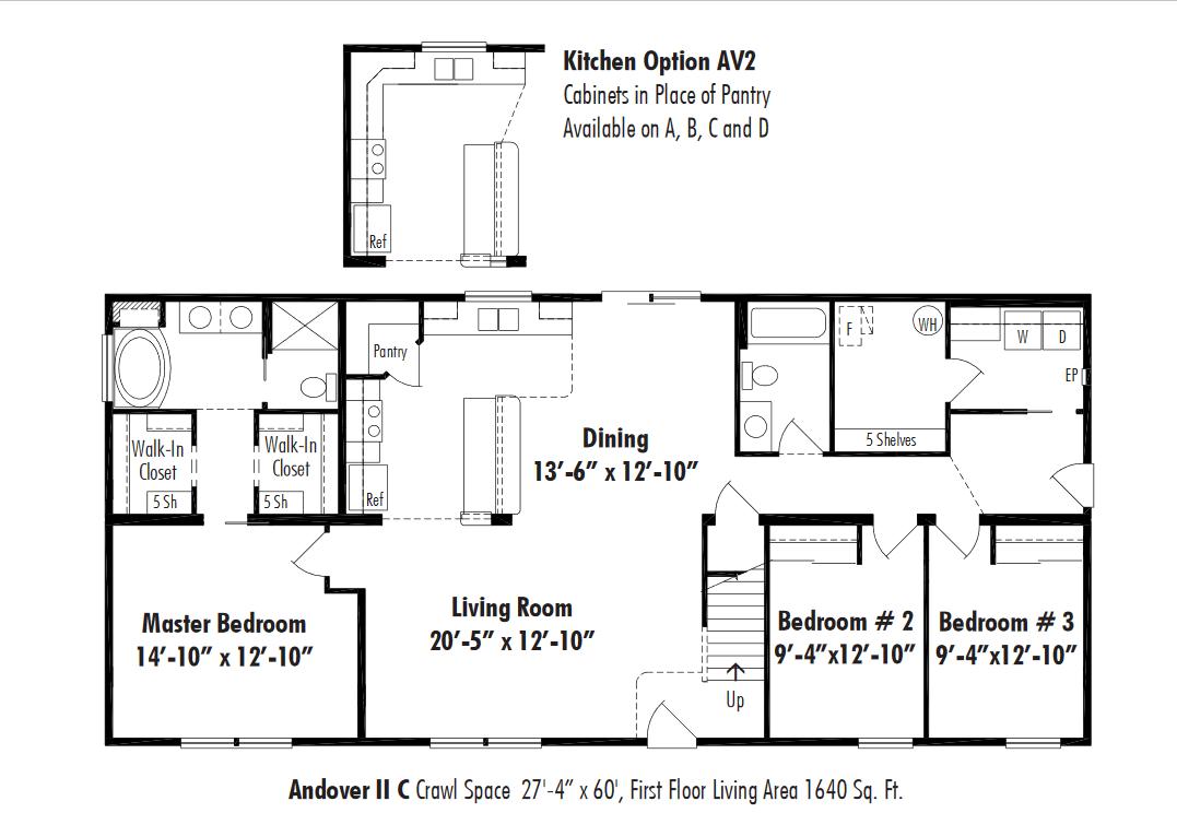 Unibilt Andover II C Floorplan