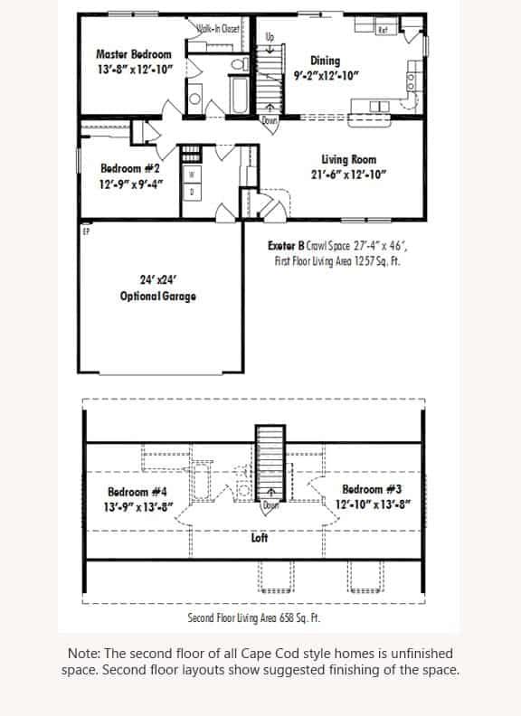 Unibilt Exeter B Floorplan Updated