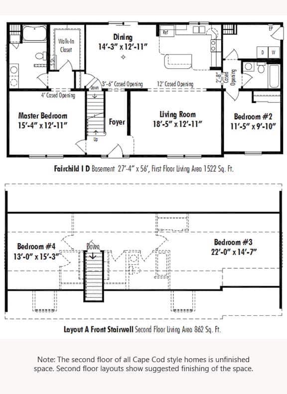 Unibilt Fairchild I D Floorplan Updated