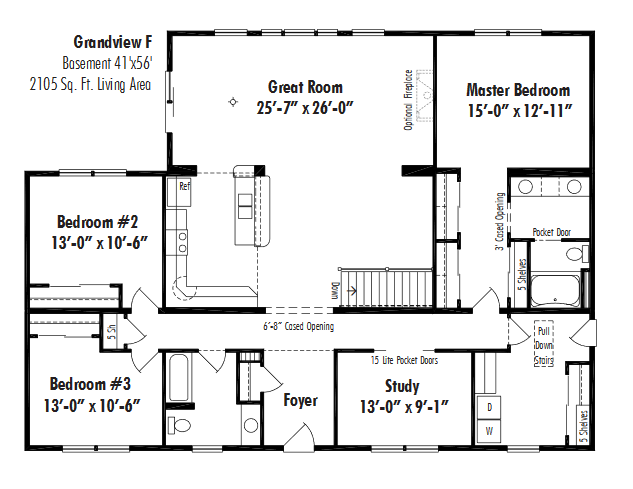 Unibilt Grandview F Floorplan