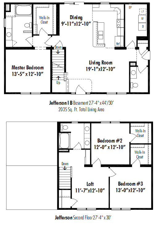 Unibilt Jefferson I B Floorplan