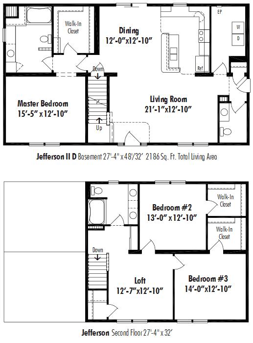 Unibilt Jefferson II D Floorplan