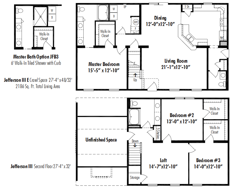 Unibilt Jefferson III E Floorplan