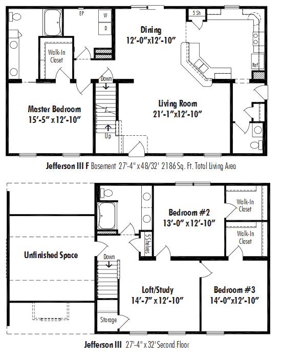Unibilt Jefferson III F Floorplan