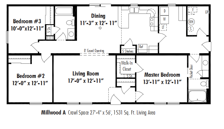 Unibilt Millwood A Floorplan