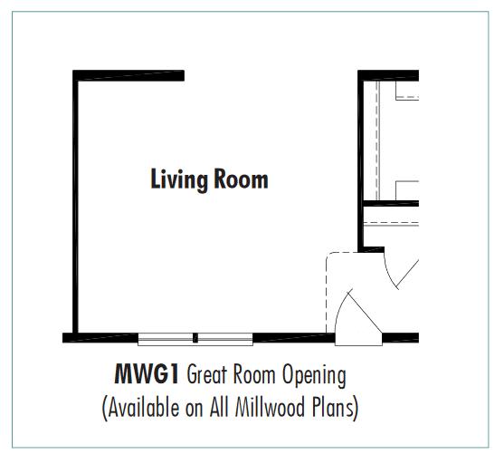 Unibilt Millwood Great Room Opening Floorplan