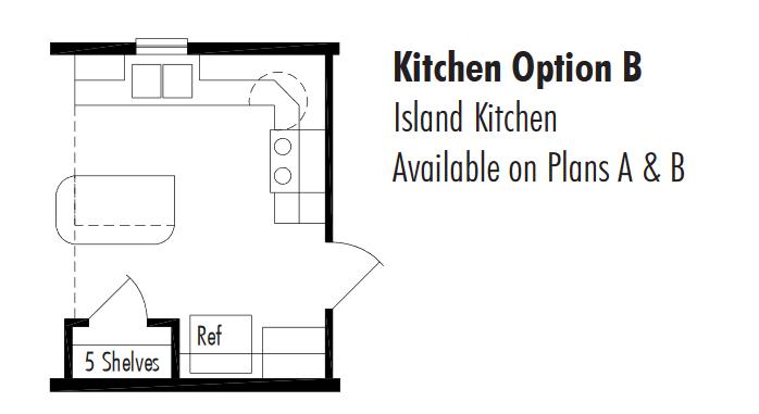 Unibilt Millwood Kitchen Opt Floorplan AB
