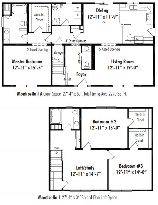 Unibilt Monticello I A Floorplan