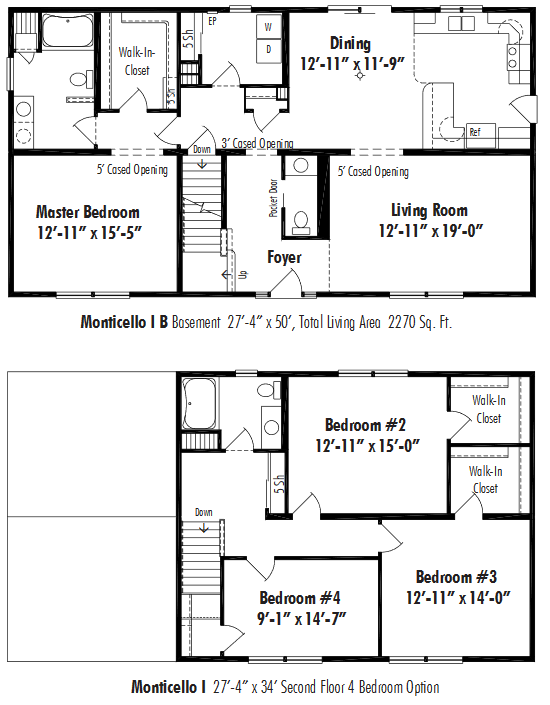 Unibilt Monticello I B Floorplan