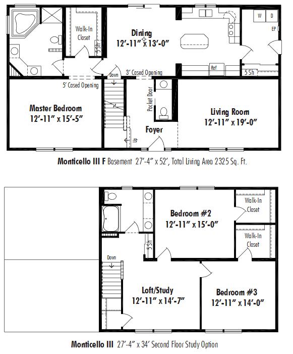 Unibilt Monticello III F floorplan