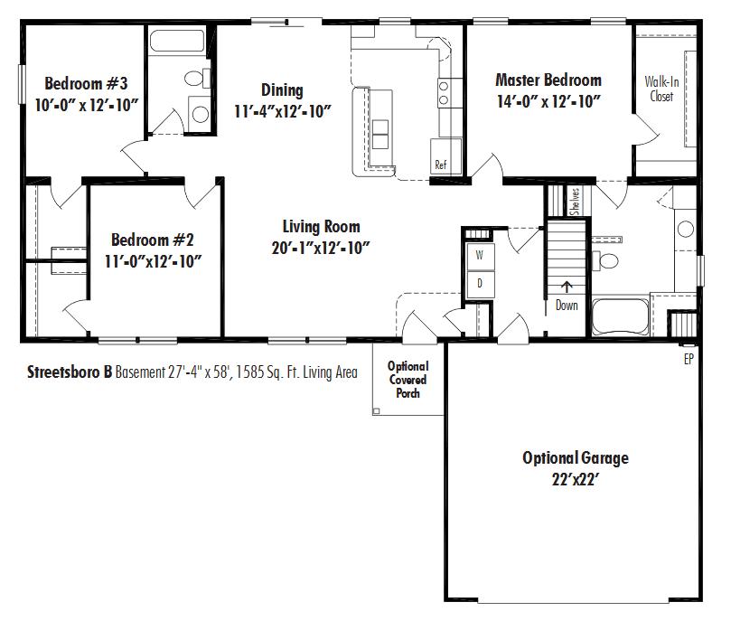 Unibilt Streetsboro B Floorplan