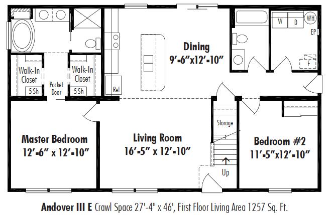 Unibilt Andover III E Floorplan