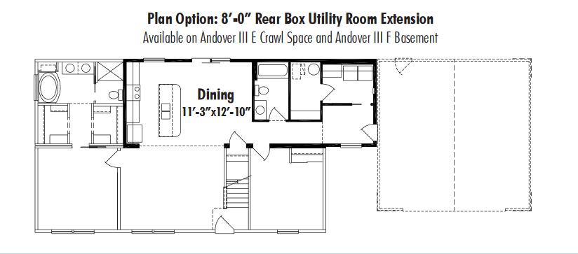 Unibilt Unibilt Andover III Utility Extension EF