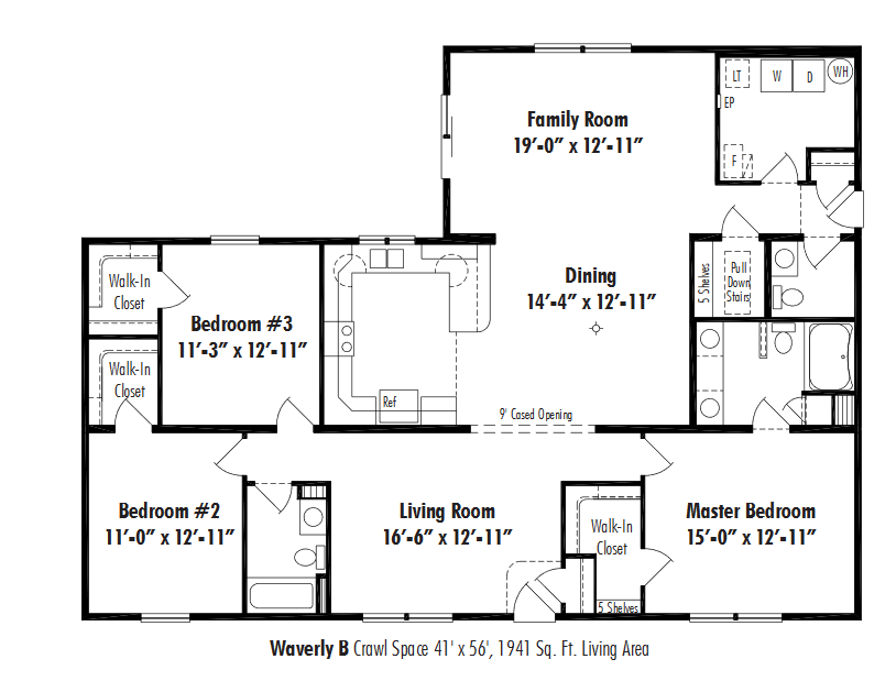 Unibilt Waverly B Floorplan