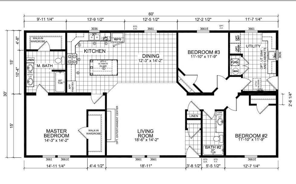 Champion Barclay 6017 Floorplan
