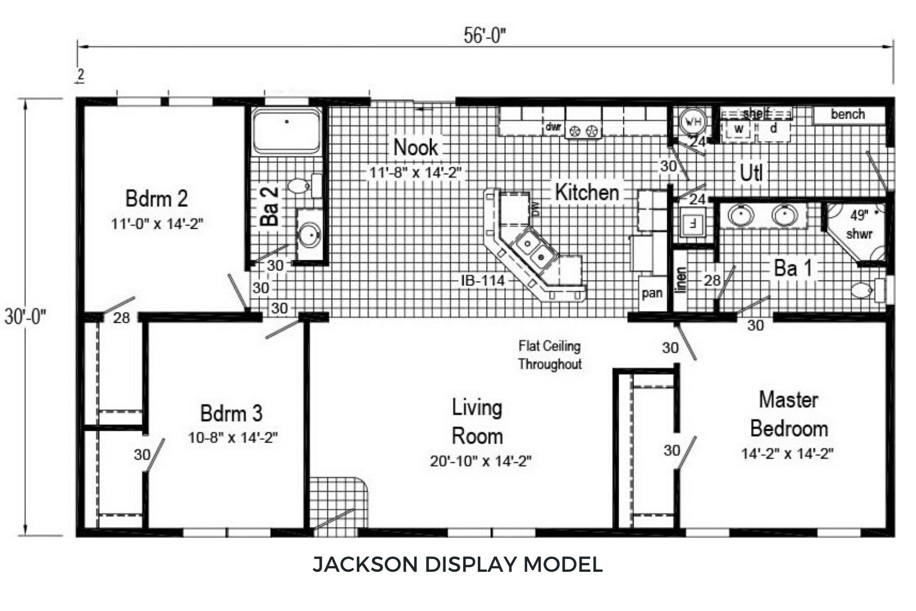 Commodore The Elm RX 721 Jackson Floor Plan 1