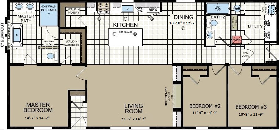 Champion Apex Gold Star 2860-235 Chillicothe Floor Plan