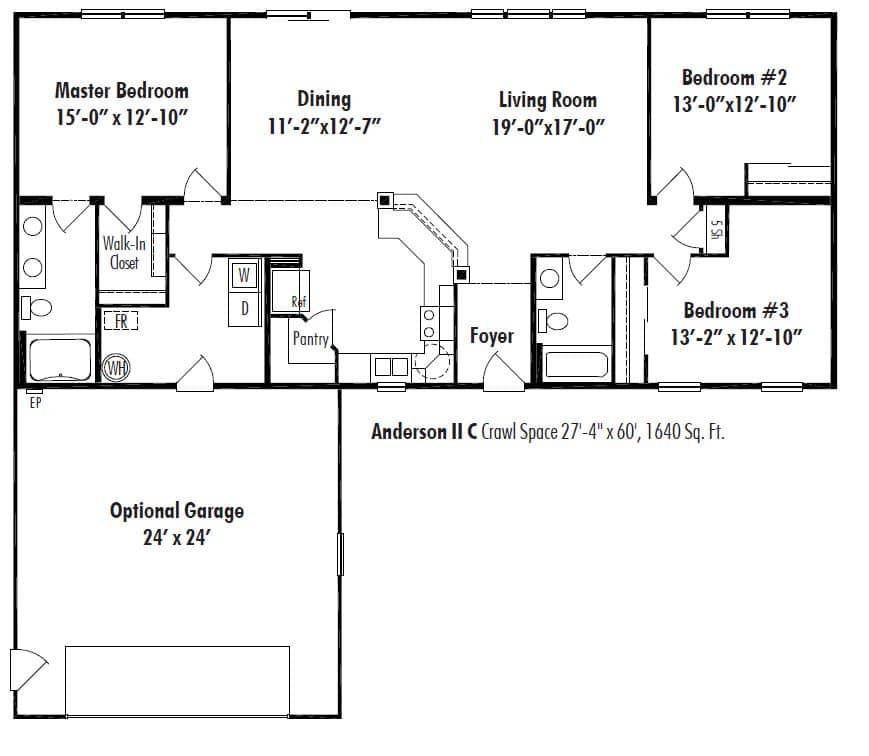 Anderson Ii C Floor Plan D W Homes