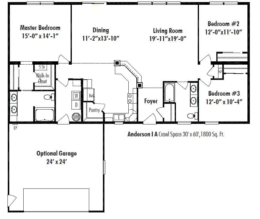 Unibilt Anderson I Floor Plan