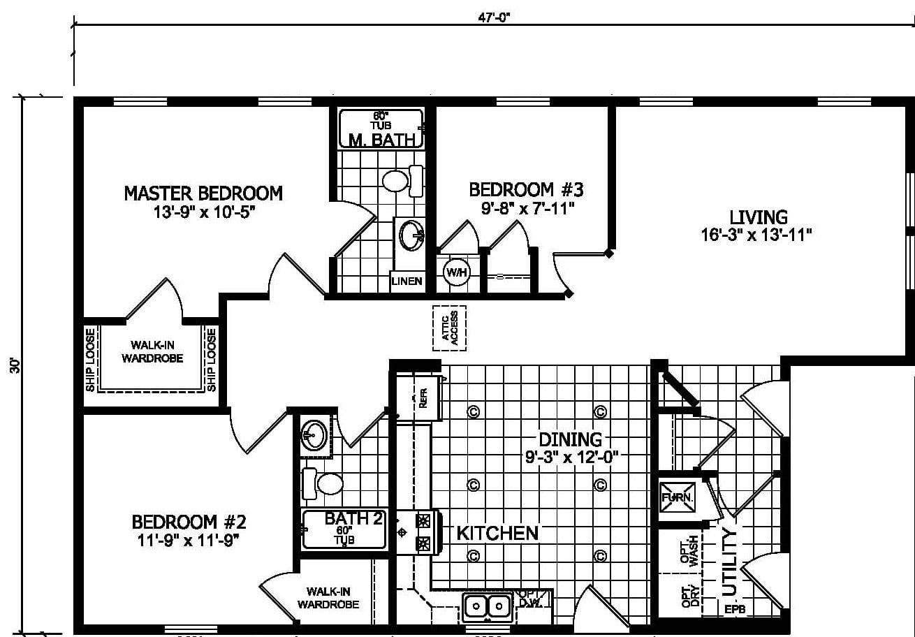 Champion Barclay 4701 Floor Plan