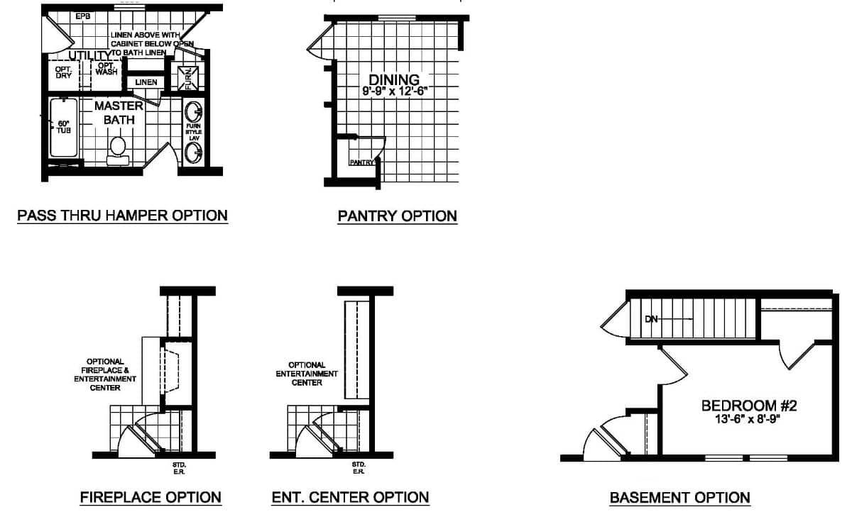 Champion Barclay 5205 Floor Plan Options