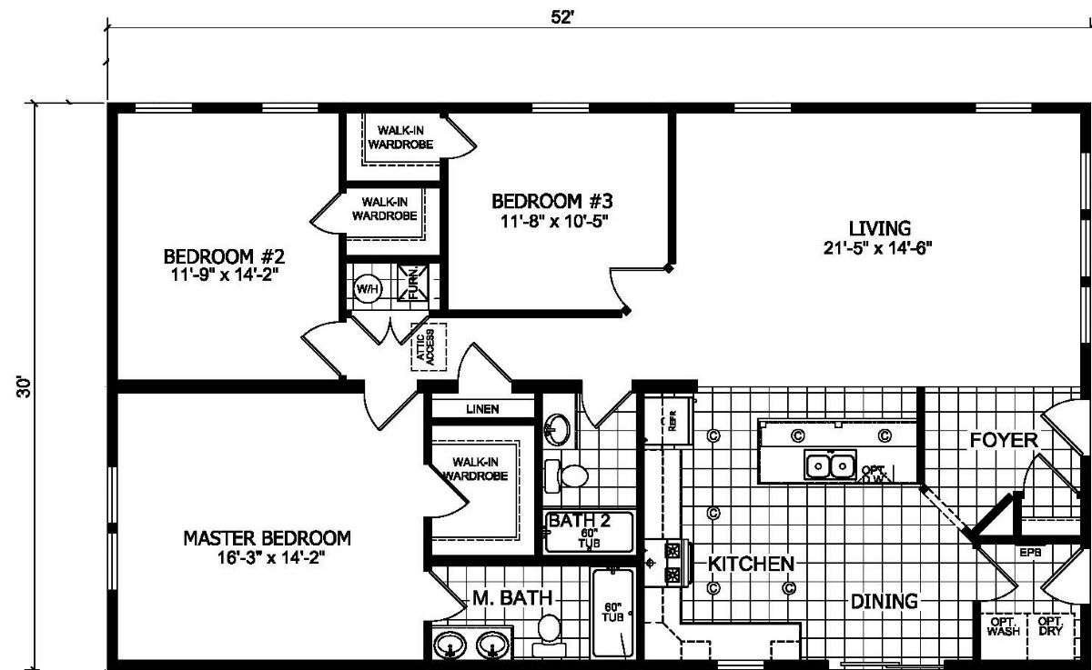 Champion Barclay 5209 Floor Plan