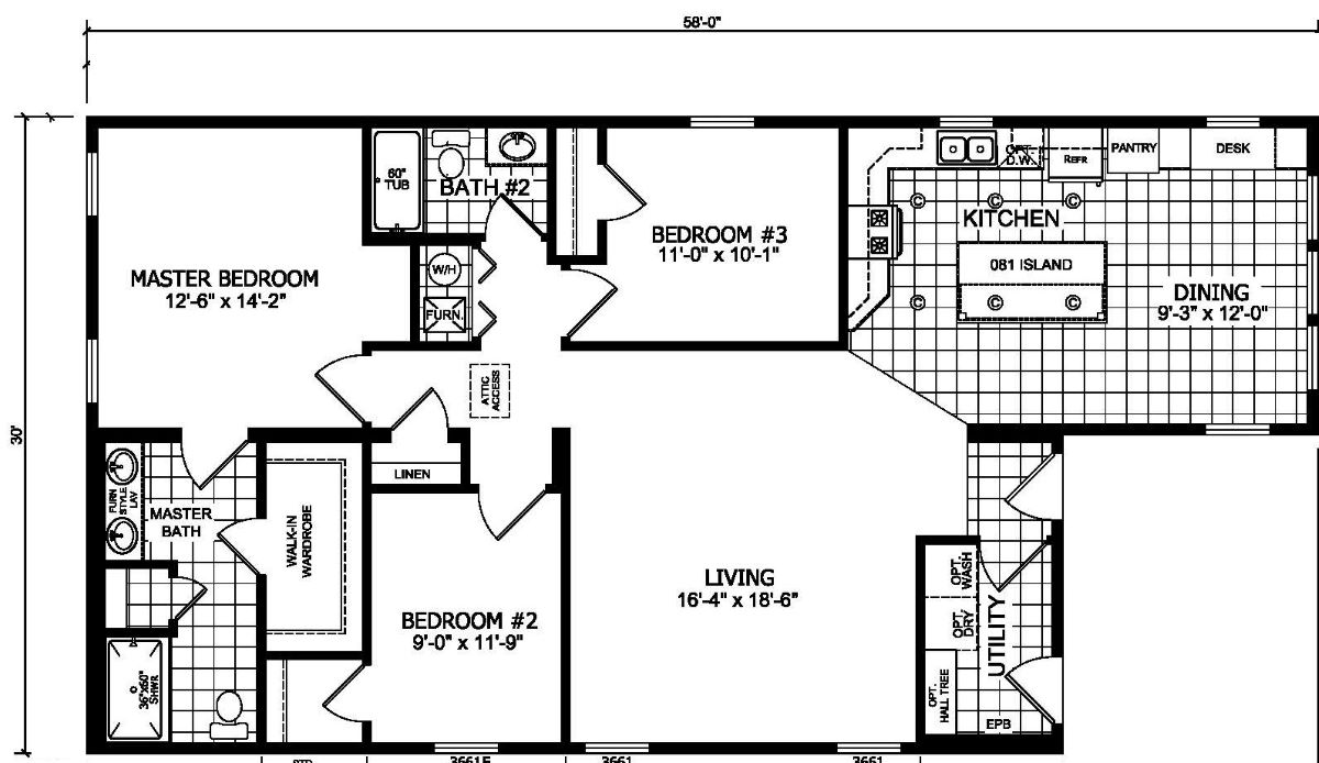 Champion Barclay 5801 Floor Plan