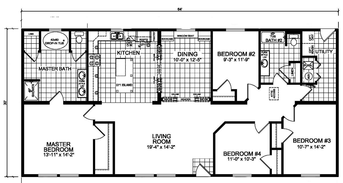 Champion Barclay 6409 Floor Plan