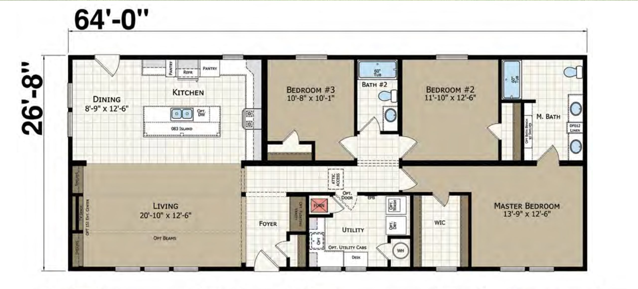 Champion Gold Star 2868 243 Floor Plan