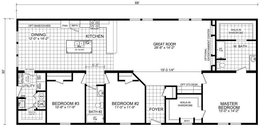 Champion 3272 214 Floor Plan