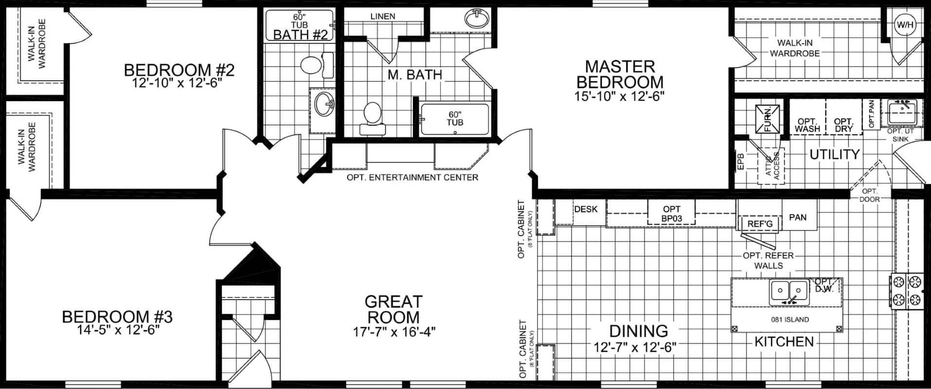 Champion 2868 211 SARATOGO Floor plan