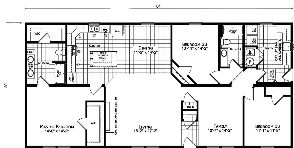 Champion Barclay 6419 Floor Plan