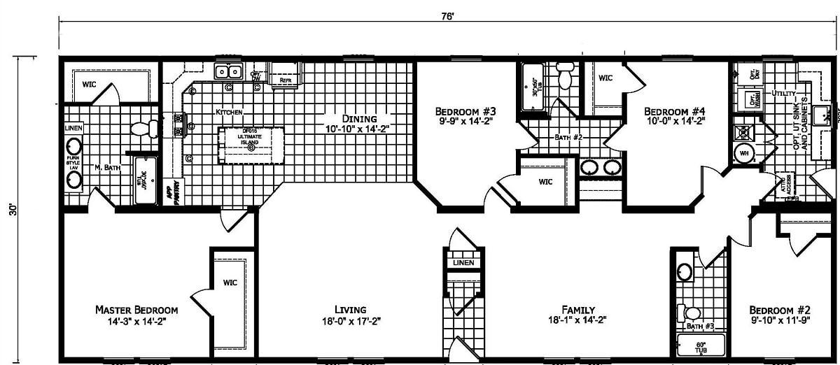Champion Barclay 7617 Floor Plan