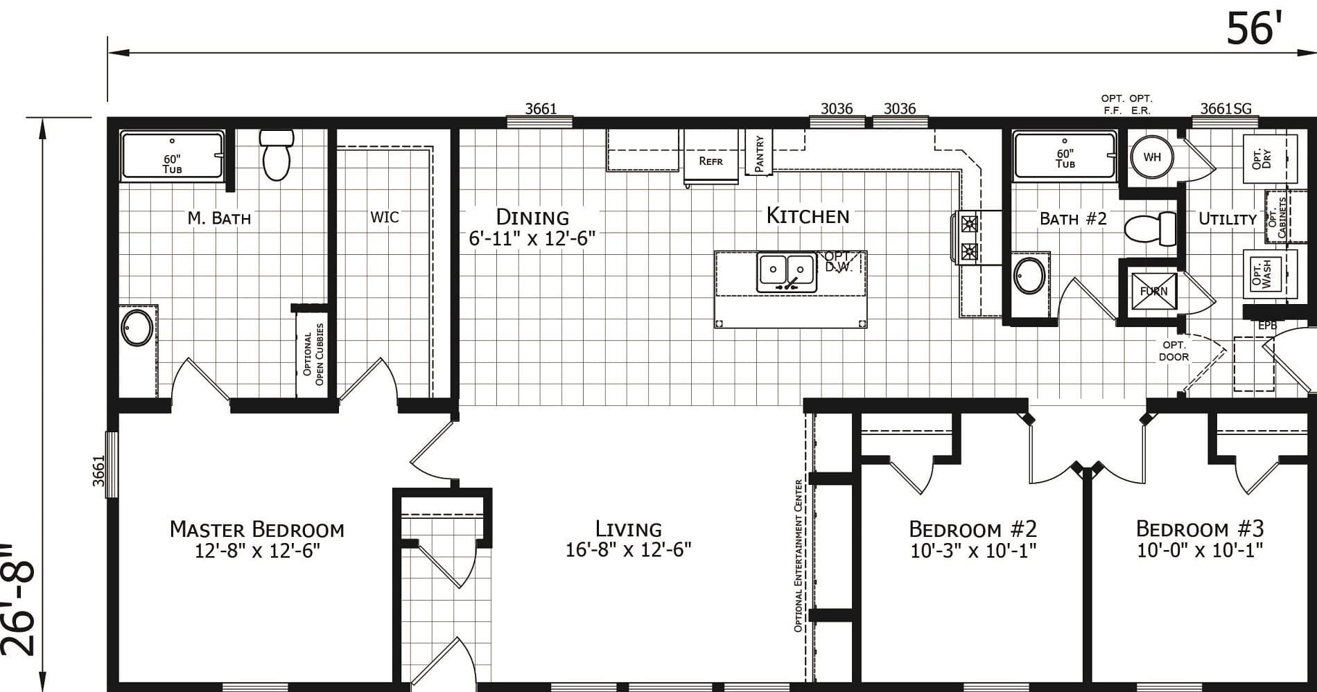 Champion Odyssey 2860 257 Floor Plan