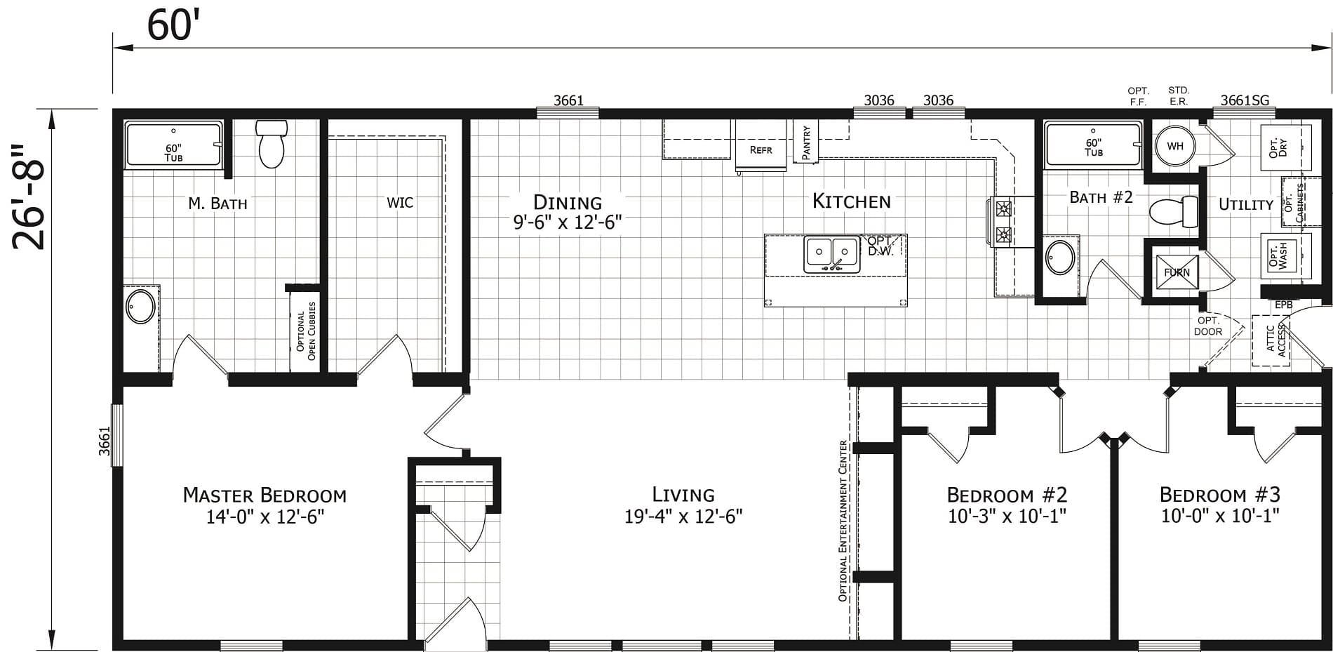 Champion Odyssey 2864 255 Floor Plan