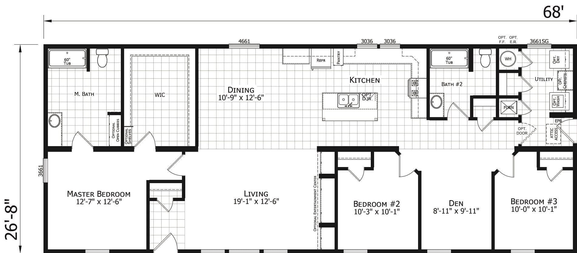 Champion Odyssey 2872 243 Floor Plan